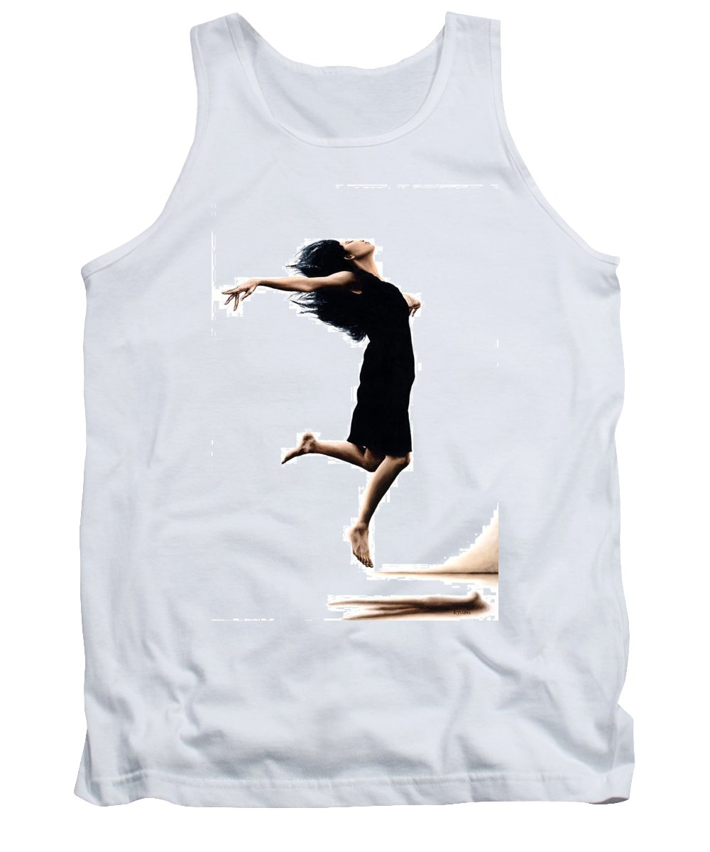 Ballet Tank Top featuring the painting Leap Into The Unknown by Richard Young
