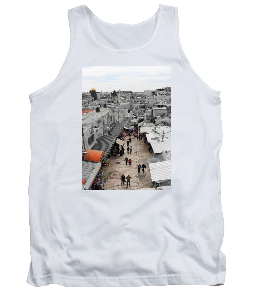 Leaving Old City Tank Top featuring the photograph Leaving Old City by Munir Alawi