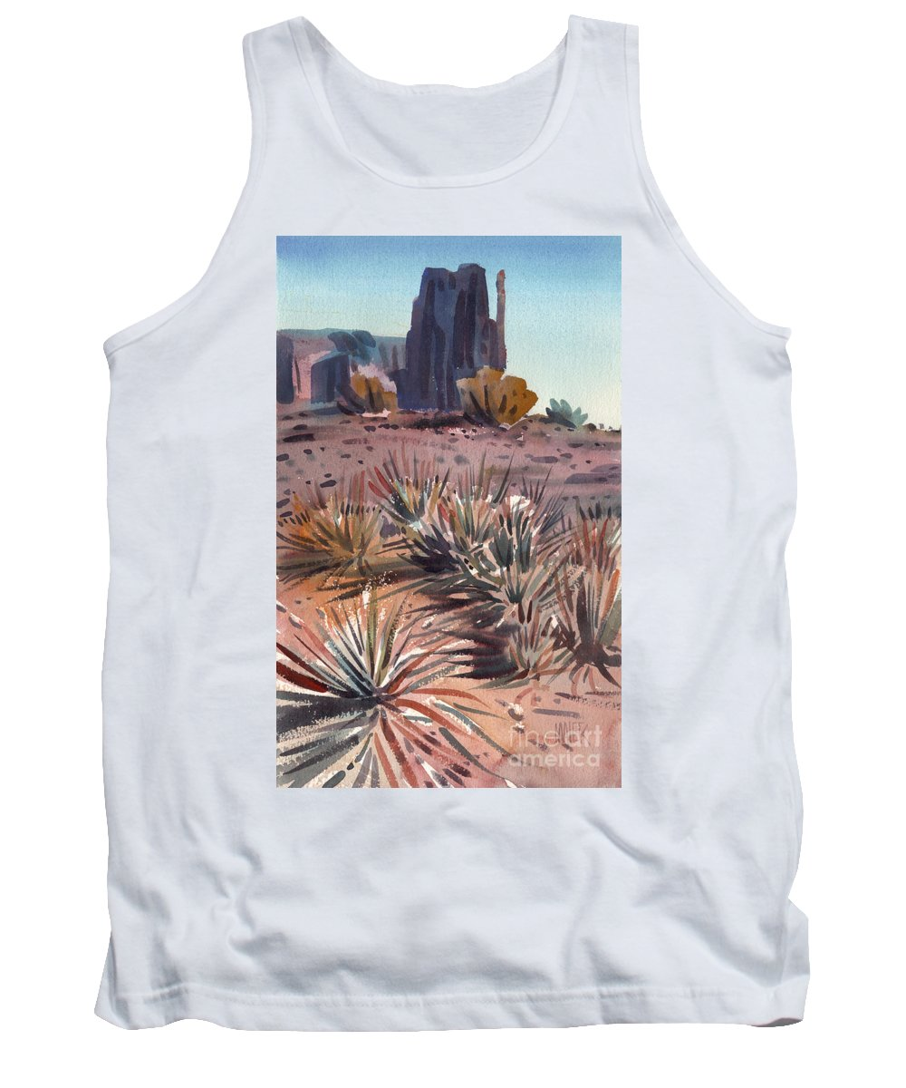 Watercolor Tank Top featuring the painting Left Mitten And Yucca by Donald Maier