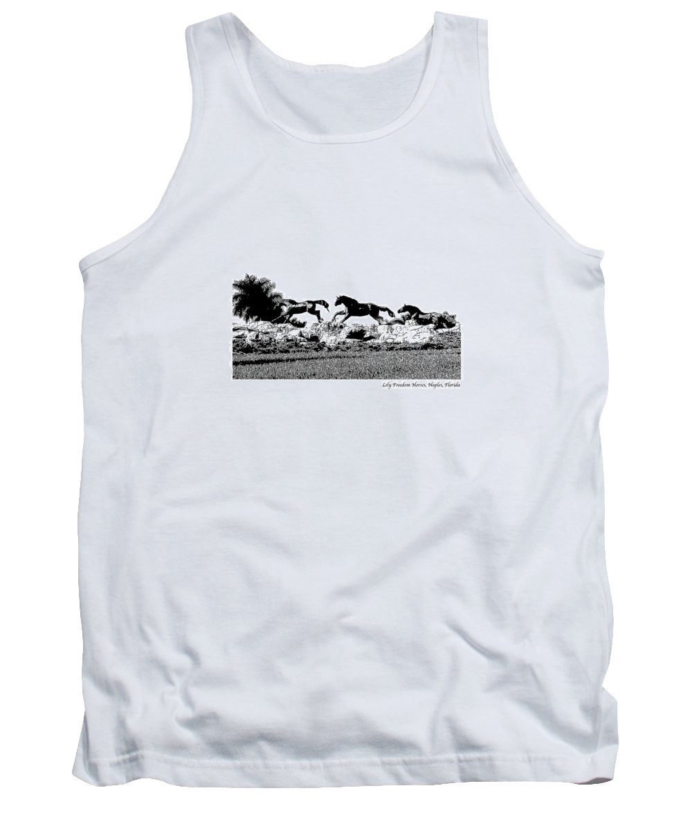 Horse Tank Top featuring the photograph Lely Horses by Laurie Paci