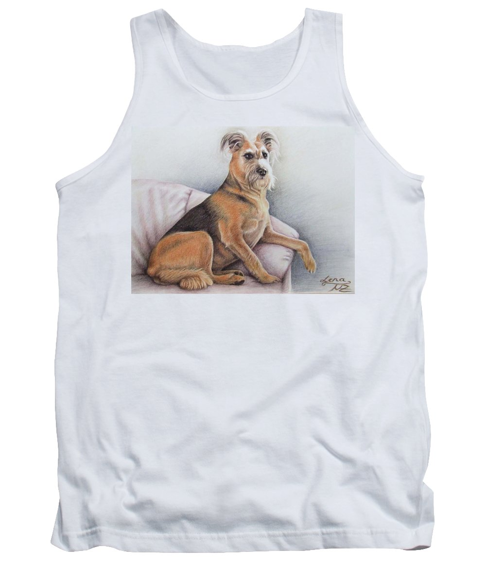 Dog Tank Top featuring the pastel Lena by Nicole Zeug