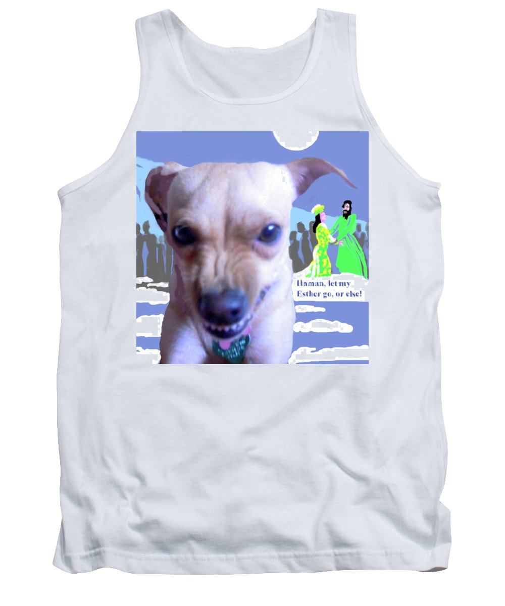 Art Tank Top featuring the mixed media Let My Esther Go by Shirl Solomon