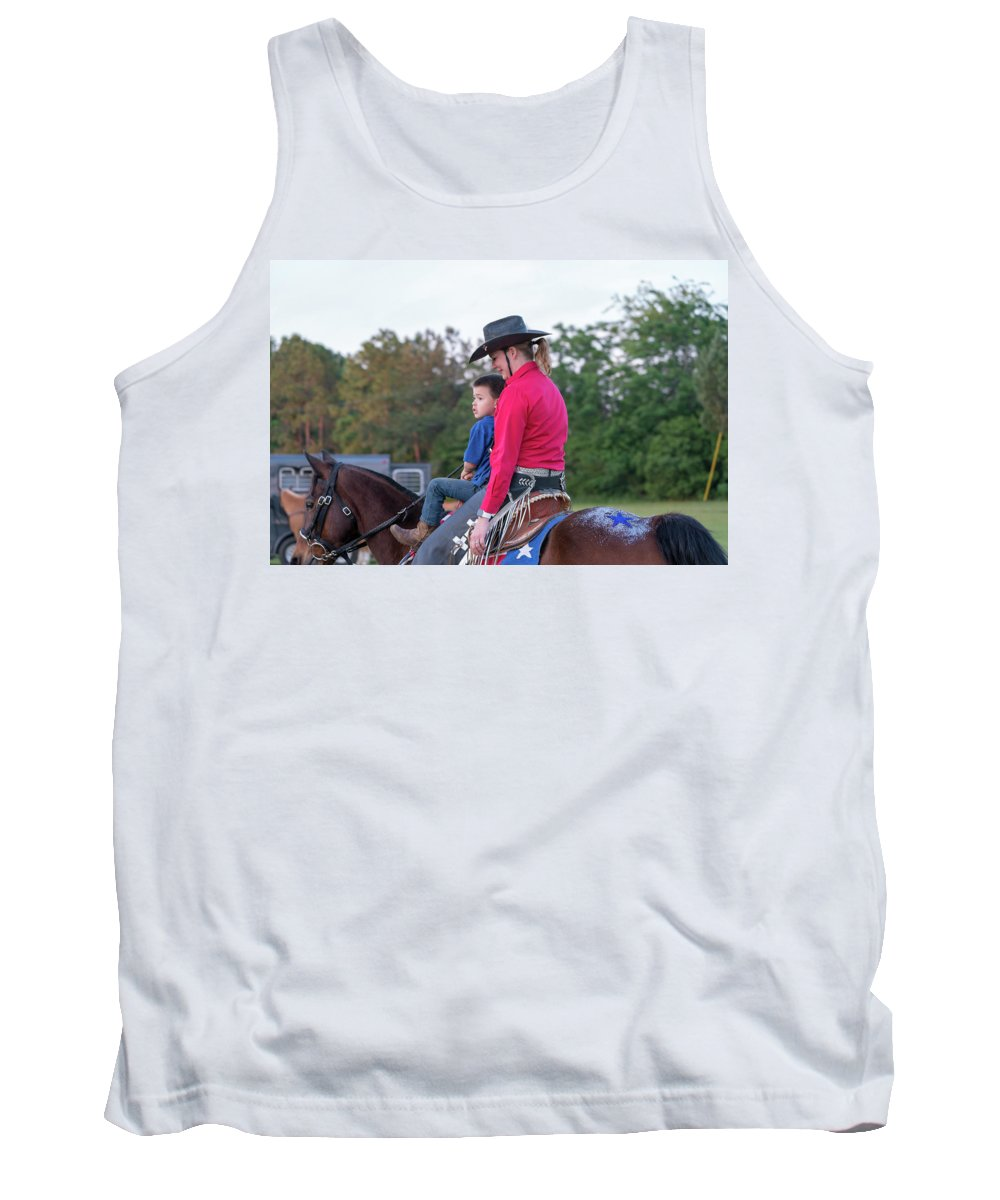 Rodeo Tank Top featuring the photograph Let Your Babies Grow Up To Be Cowboys by Glenn Matthews