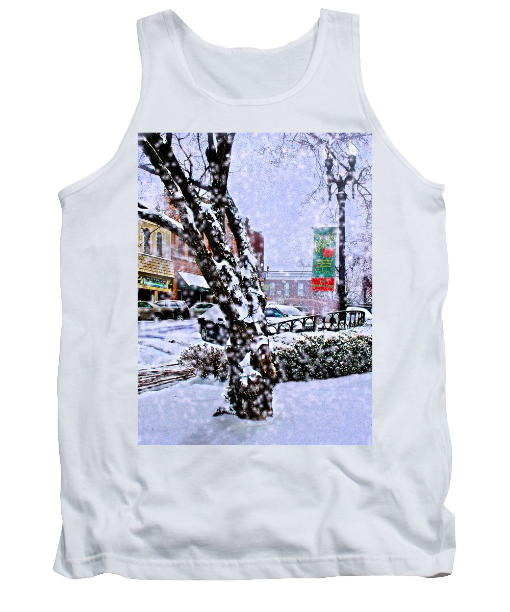 Landscape Tank Top featuring the photograph Liberty Square In Winter by Steve Karol