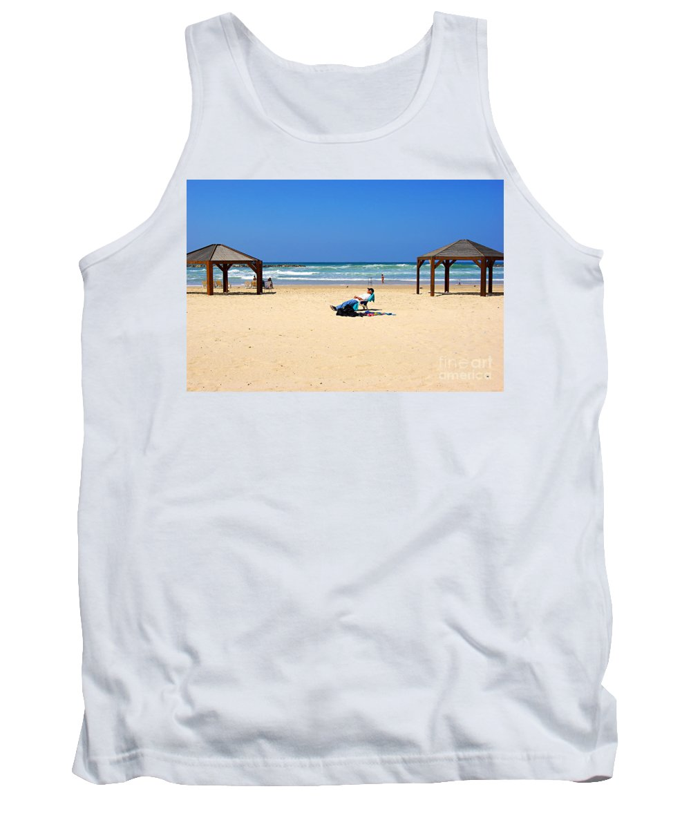 Beach Tank Top featuring the photograph Life After 60.. by Zal Latzkovich