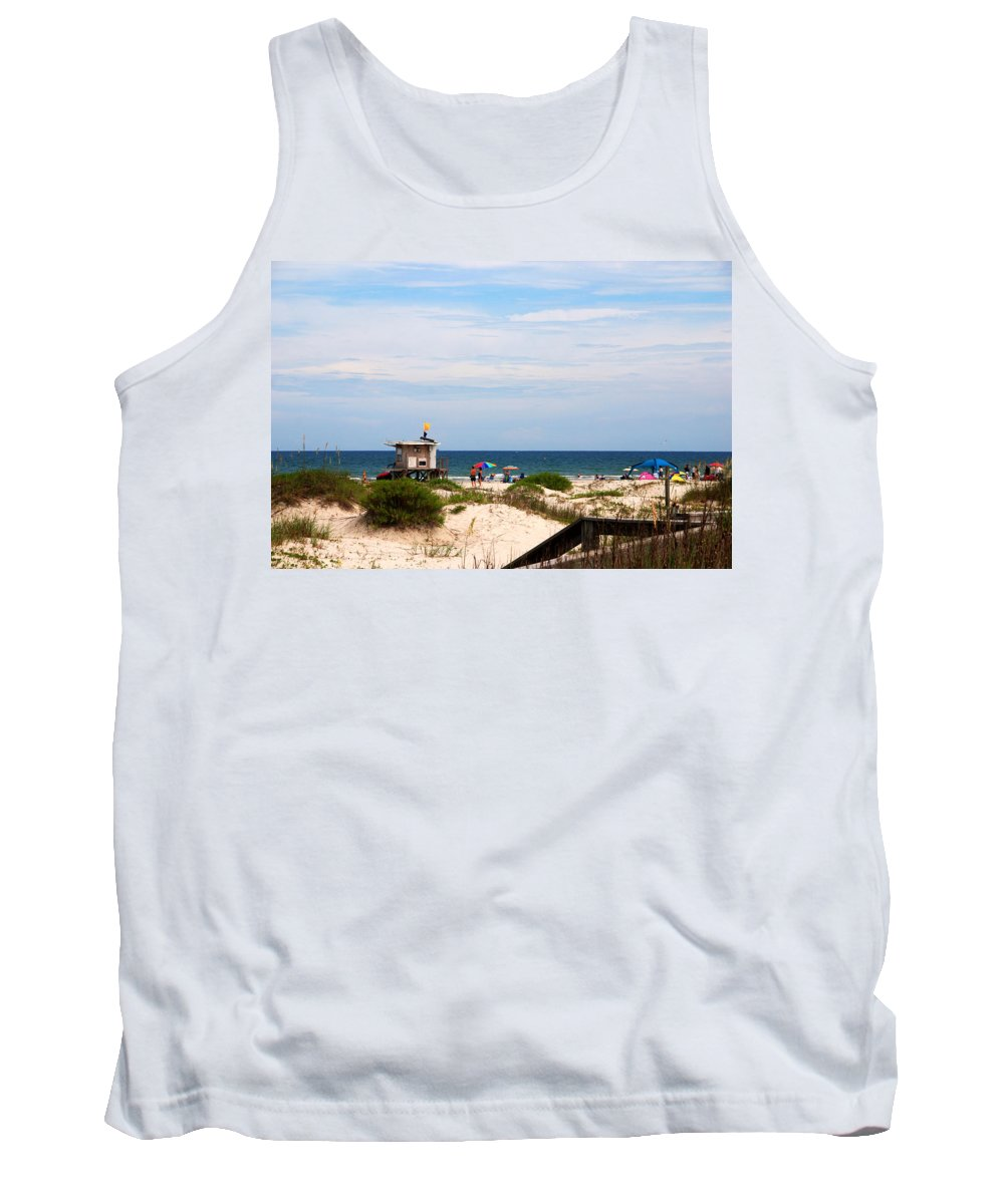 Lifeguard On Duty Tank Top featuring the photograph Lifeguard On Duty by Susanne Van Hulst