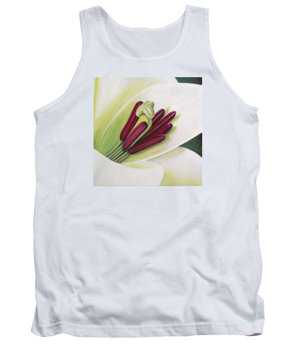 Flower Tank Top featuring the painting Lily by Rob De Vries