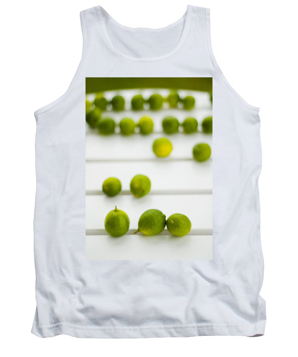 Green Tank Top featuring the photograph Lime Green by Skip Hunt