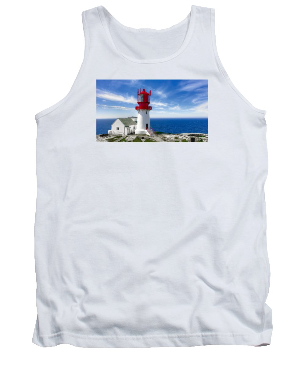 Ligthhouse Tank Top featuring the photograph Lindesnes Lighthouse - Norway's Oldest by Daniel Hagerman