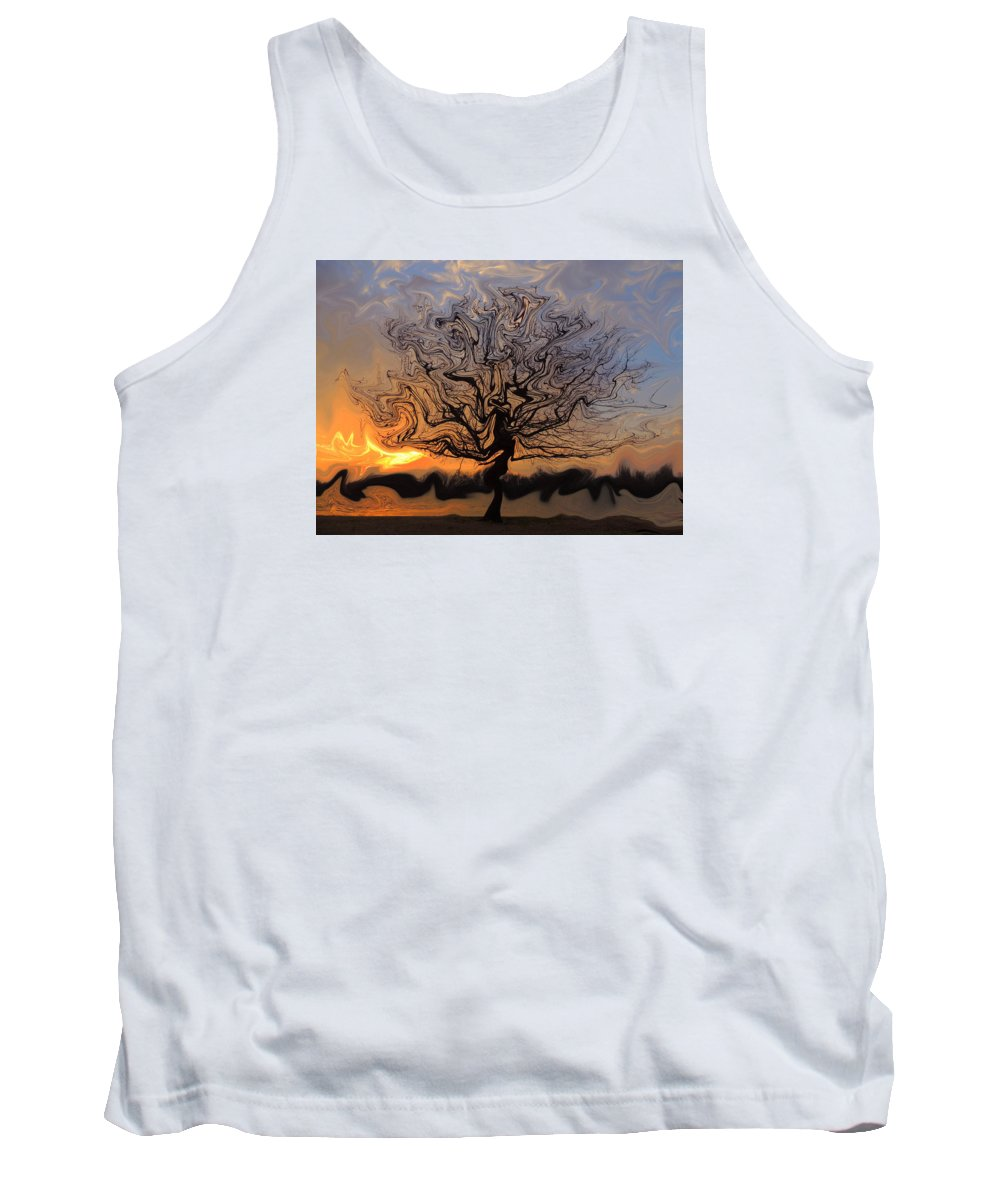Manipulated Tank Top featuring the photograph Liquified by Delana Epperson