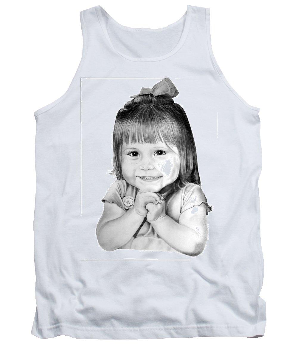 Child Tank Top featuring the drawing Little Bailey by Murphy Elliott