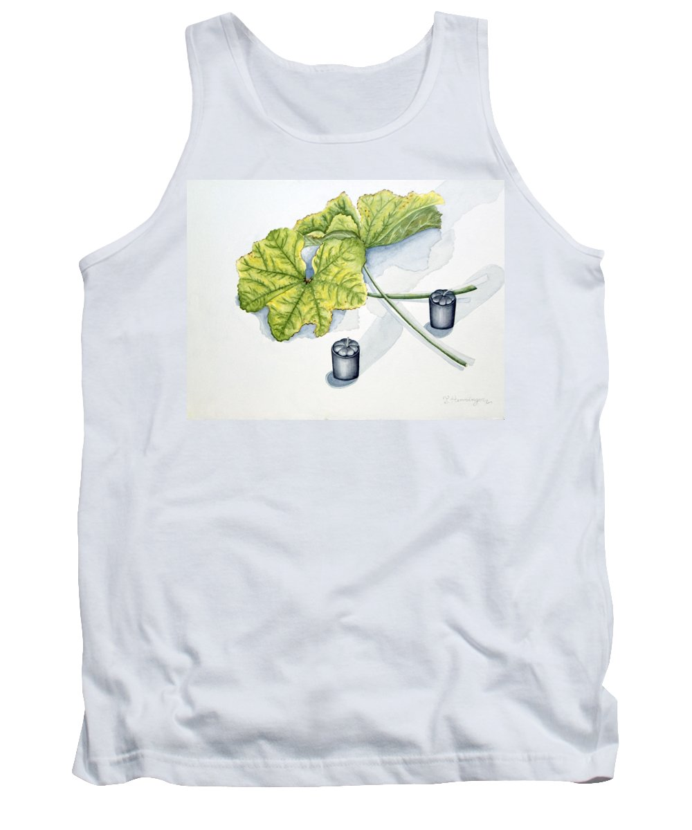 Candles Tank Top featuring the painting Little Black Candles by Judy Henninger