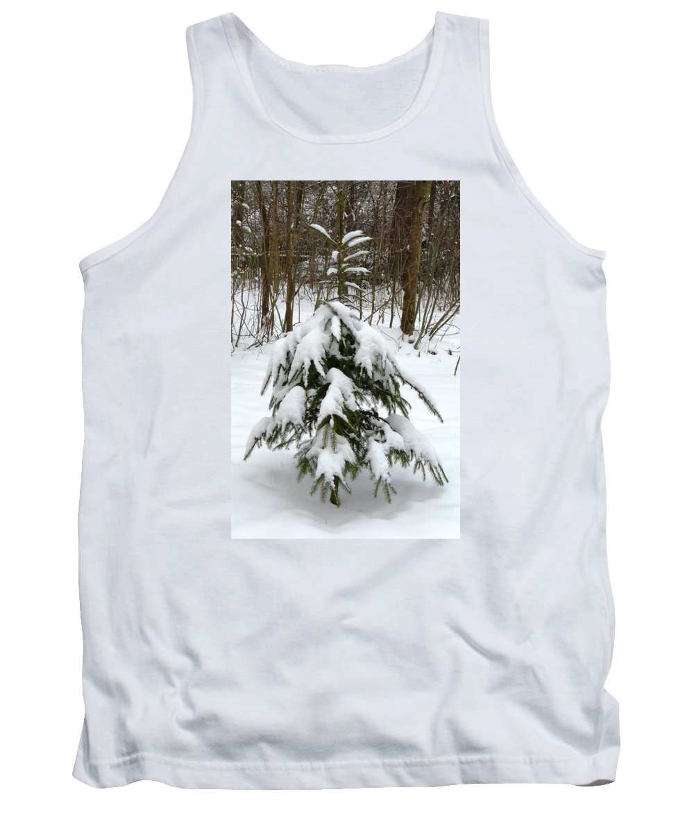 Christmas Tank Top featuring the photograph Little Christmas Tree by Valerie Ornstein