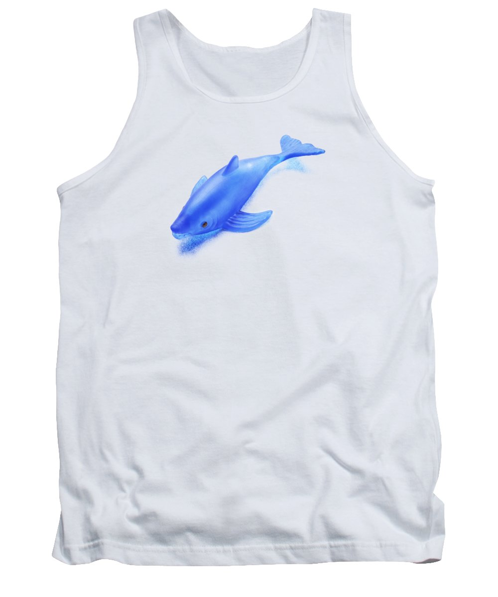 Blue Tank Top featuring the photograph Little Rubber Fish by YoPedro