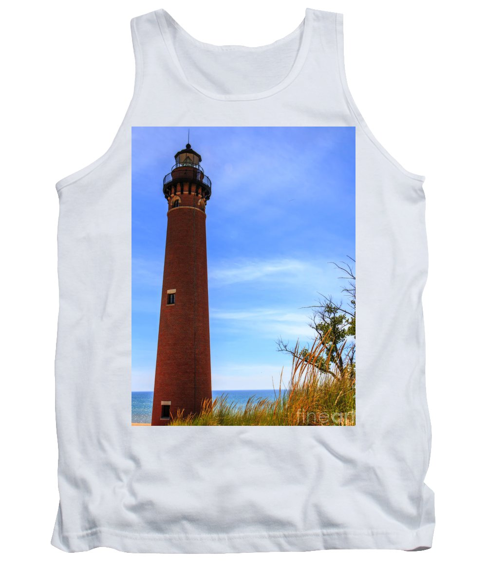 Kathryn Smith Tank Top featuring the photograph Little Sable Point Lighthouse by Kathryn Smith
