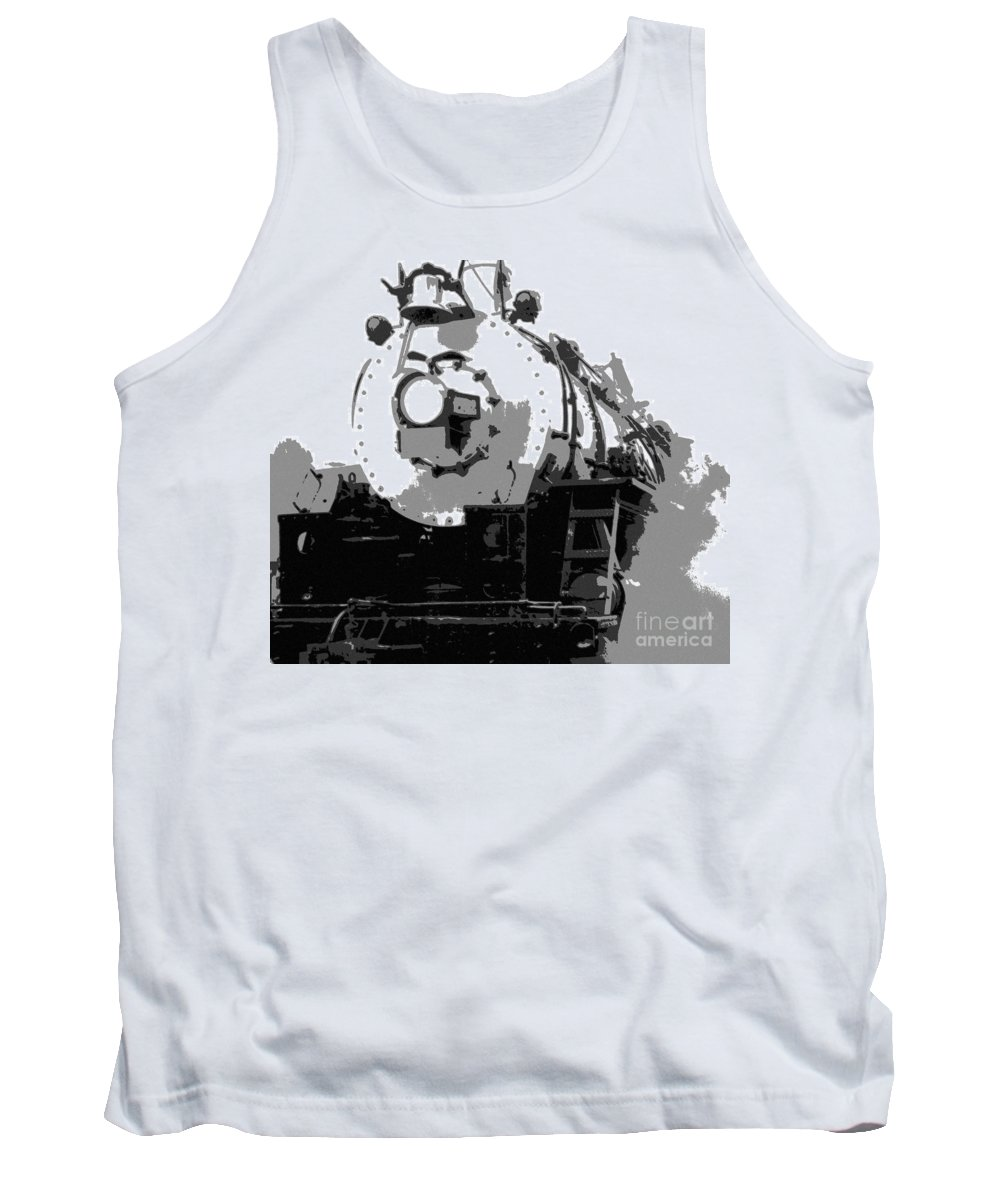 Locomotive Tank Top featuring the mixed media Locomotion by Richard Rizzo