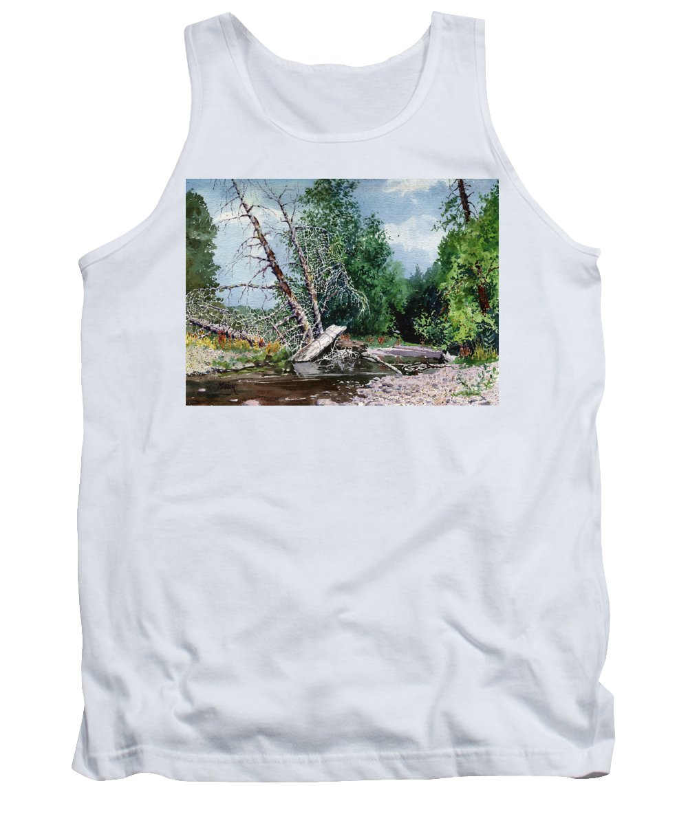 Washington State Tank Top featuring the painting Log Jam by Donald Maier