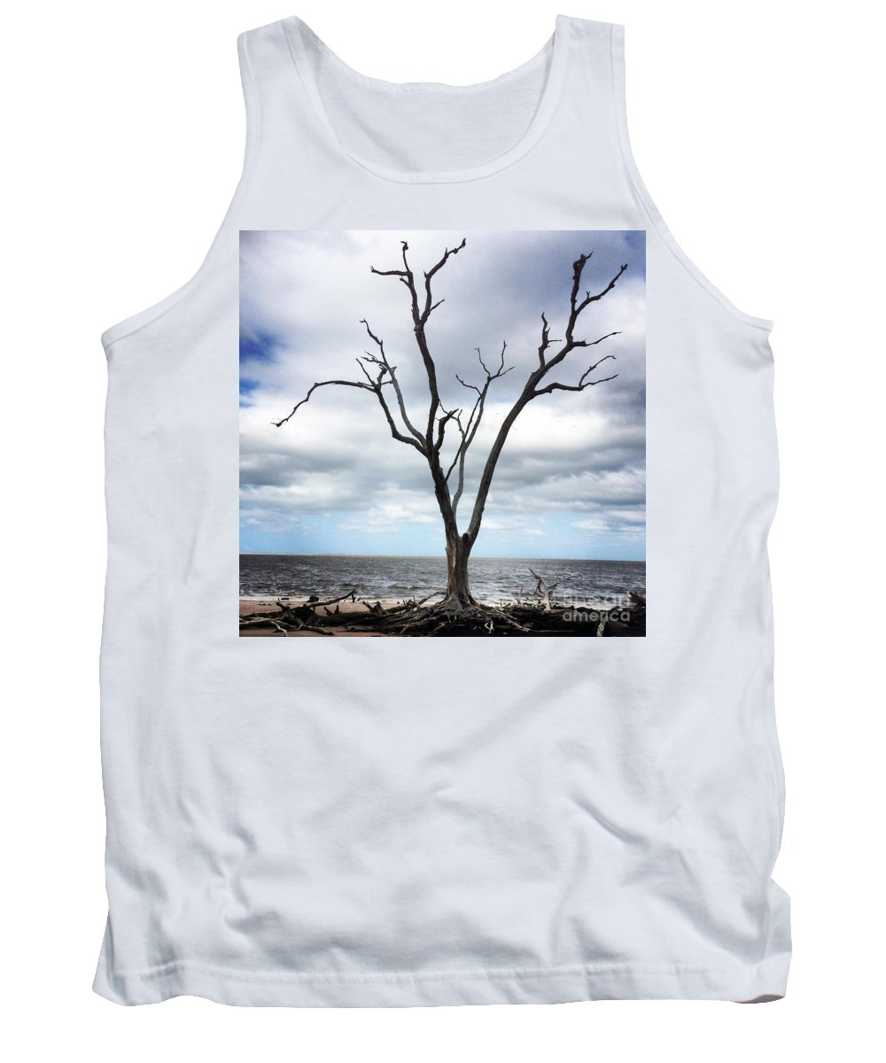 Florida Tank Top featuring the photograph Lone Dead Tree by Geoffrey Shaffer