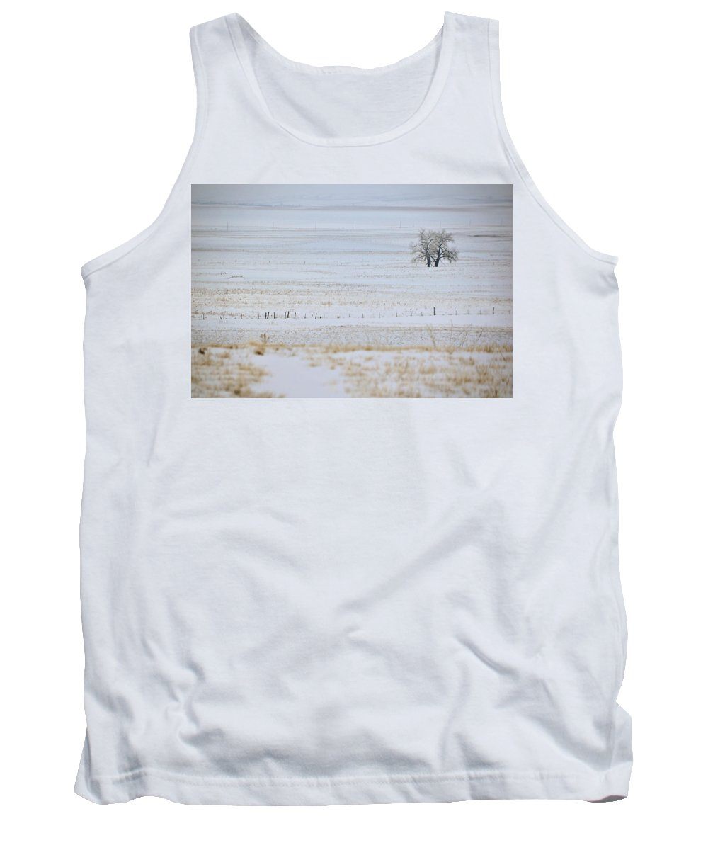 Field Tank Top featuring the photograph Lone Reflection by Kellie Prowse