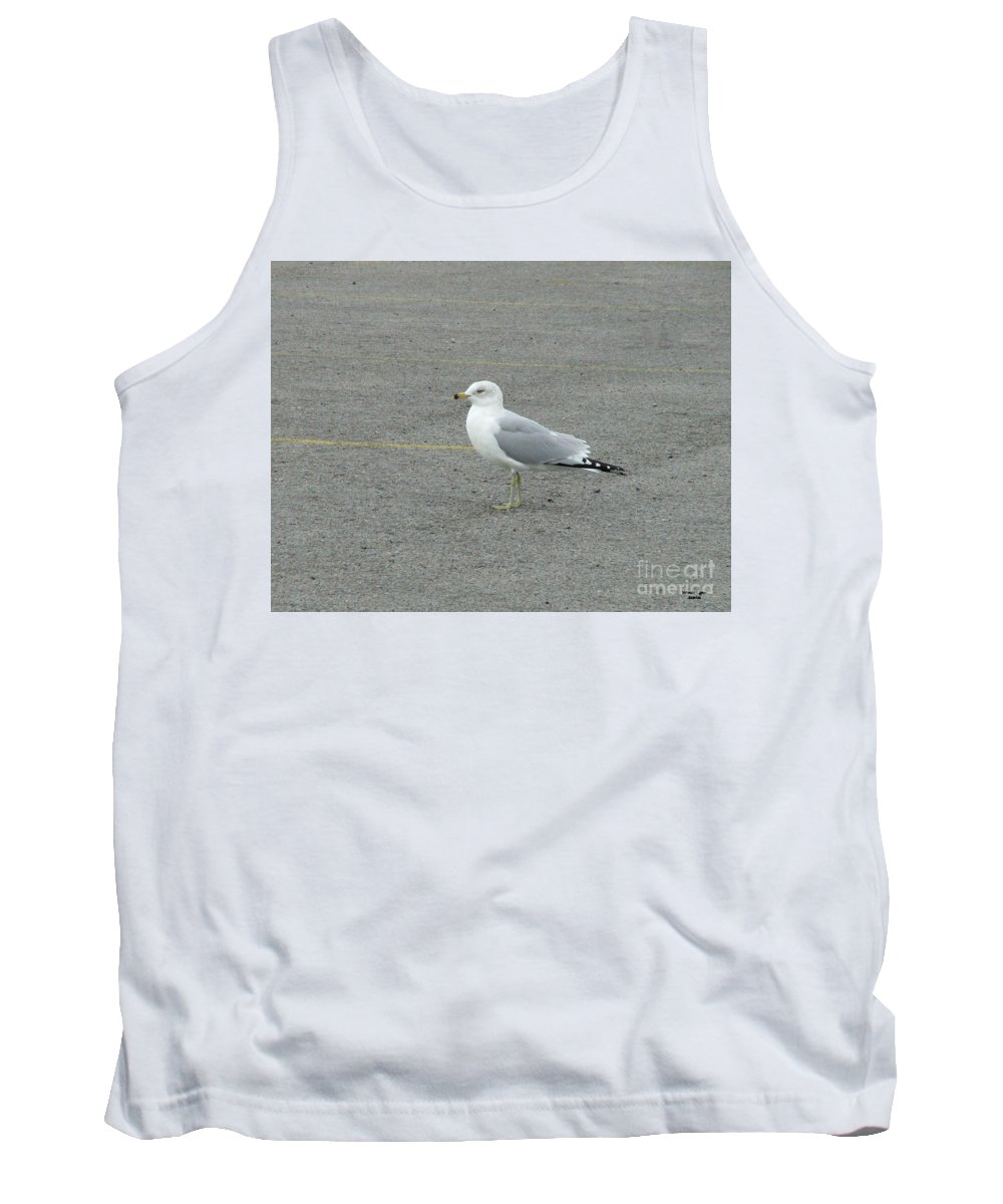 Lonely Seagull Tank Top featuring the photograph Lonely Seagull by Wanda-Lynn Searles