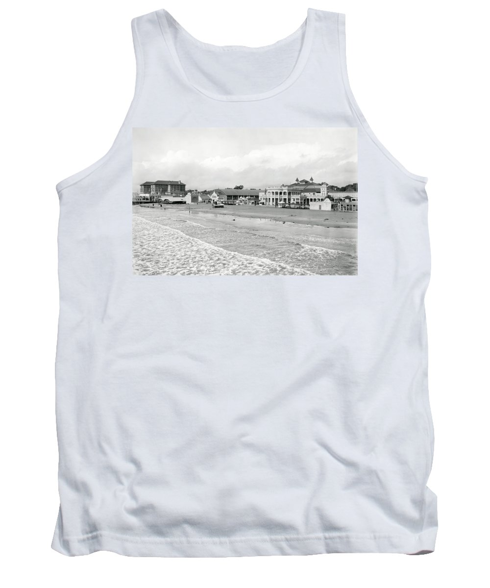 long Beach Tank Top featuring the photograph Long Beach California C. 1910 by Daniel Hagerman