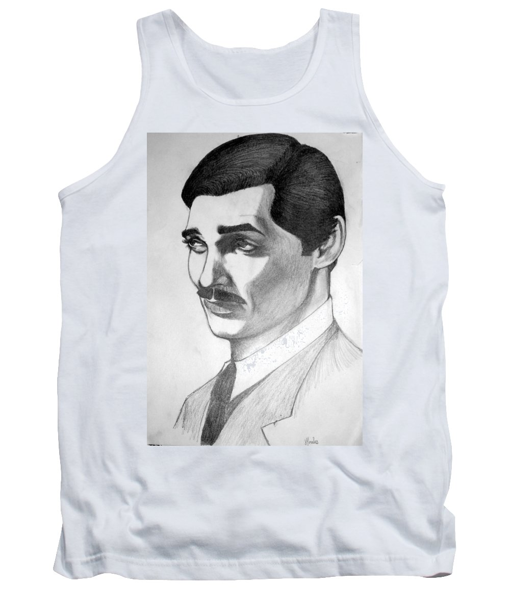 Portrait Tank Top featuring the drawing Long Live The King by Marco Morales
