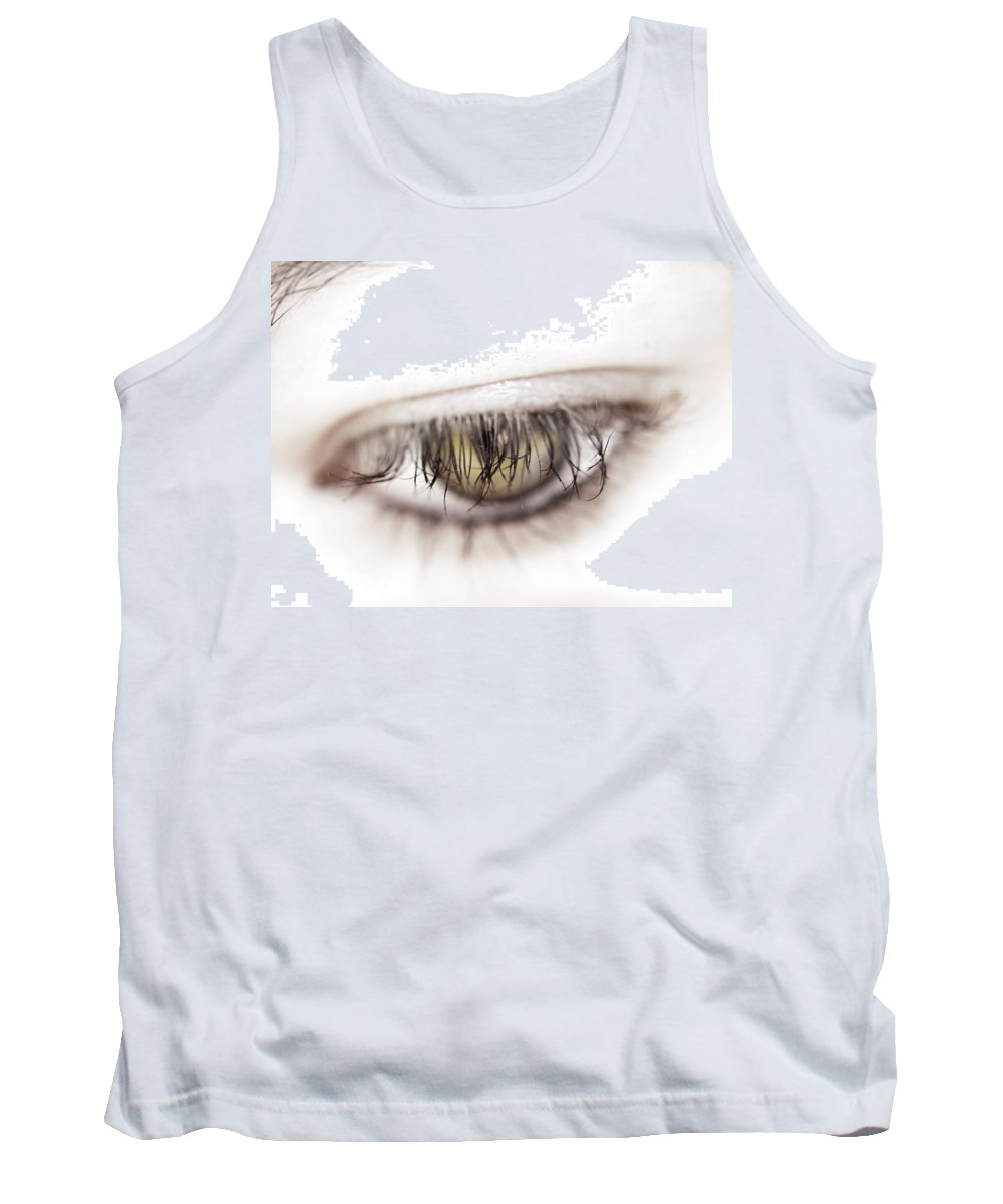 Eye Tank Top featuring the photograph Look Away by Kelly Jade King