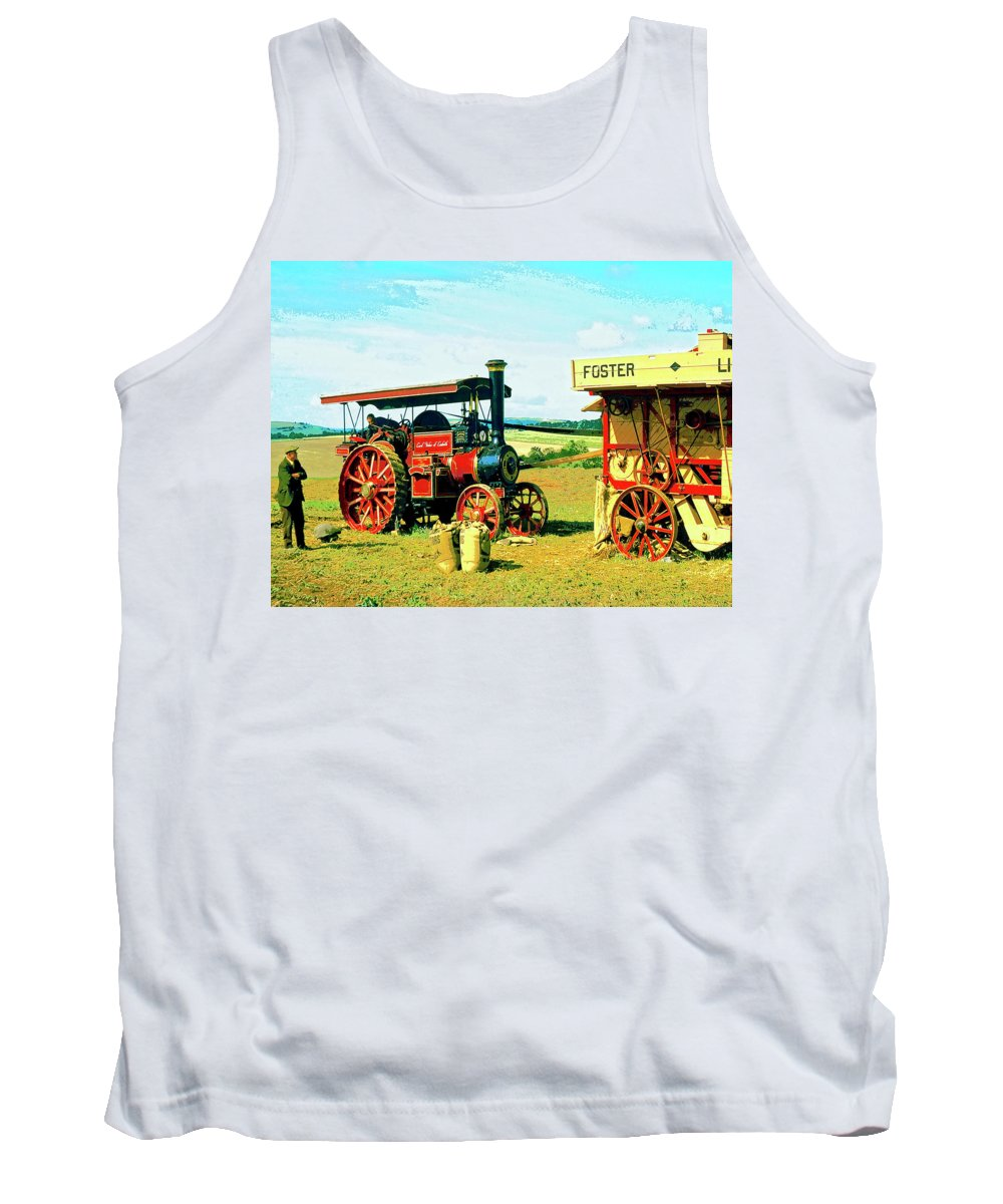 Lord Fisher Tank Top featuring the mixed media Lord Fisher by Dominic Piperata