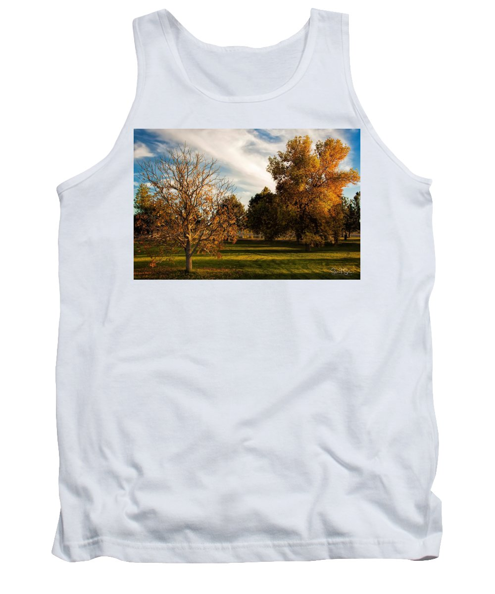 Autumn Tank Top featuring the photograph Lost In Autumn by Steve Sullivan