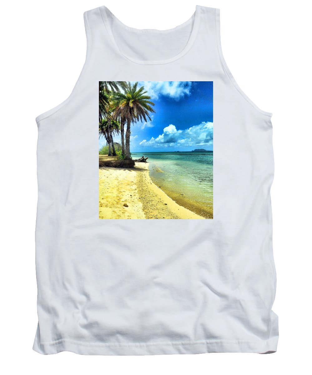 Tropical Island Tank Top featuring the photograph Lost In Paradise by Lorrie Morrison