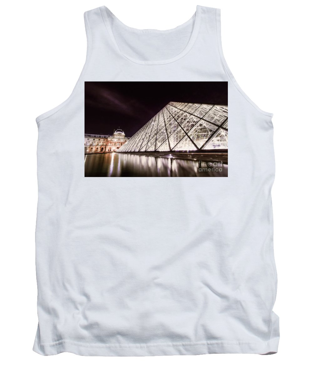 Paris Tank Top featuring the photograph Louvre Museum 4 Art by Alex Art and Photo