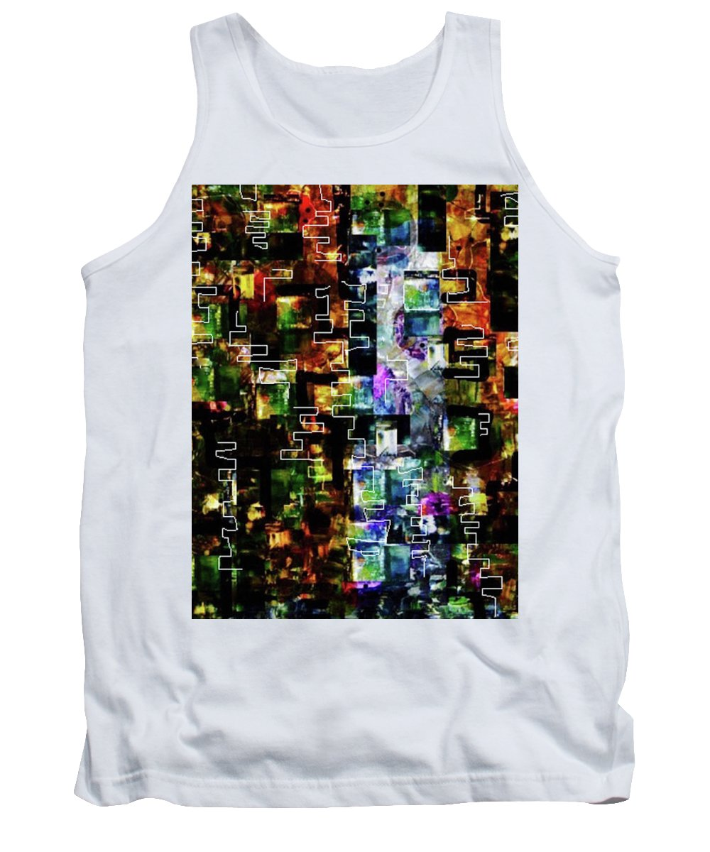 Abstract Tank Top featuring the mixed media Luminance by Dianne Lynn Benanti