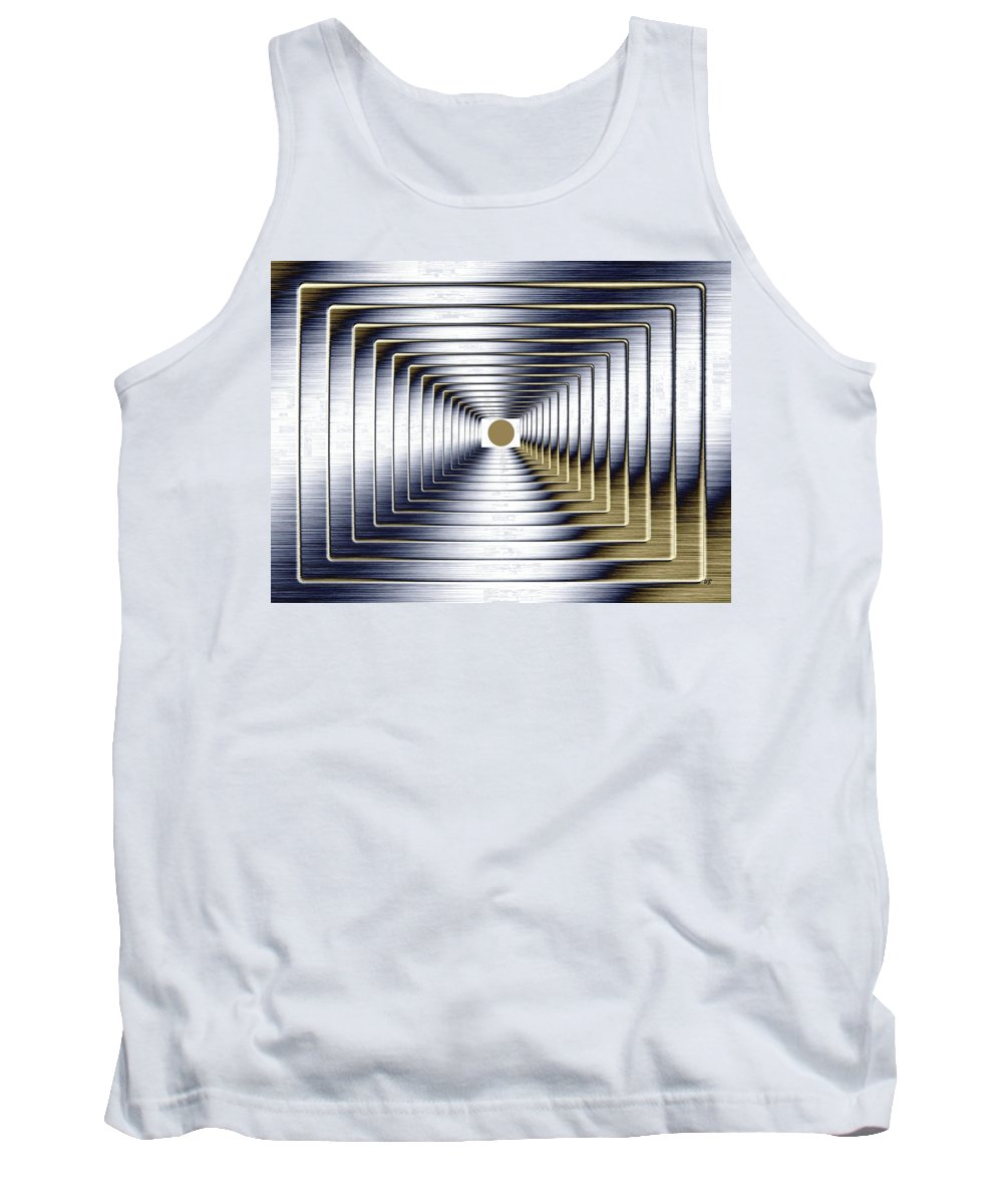 Abstract Tank Top featuring the digital art Luminous Energy 1 by Will Borden
