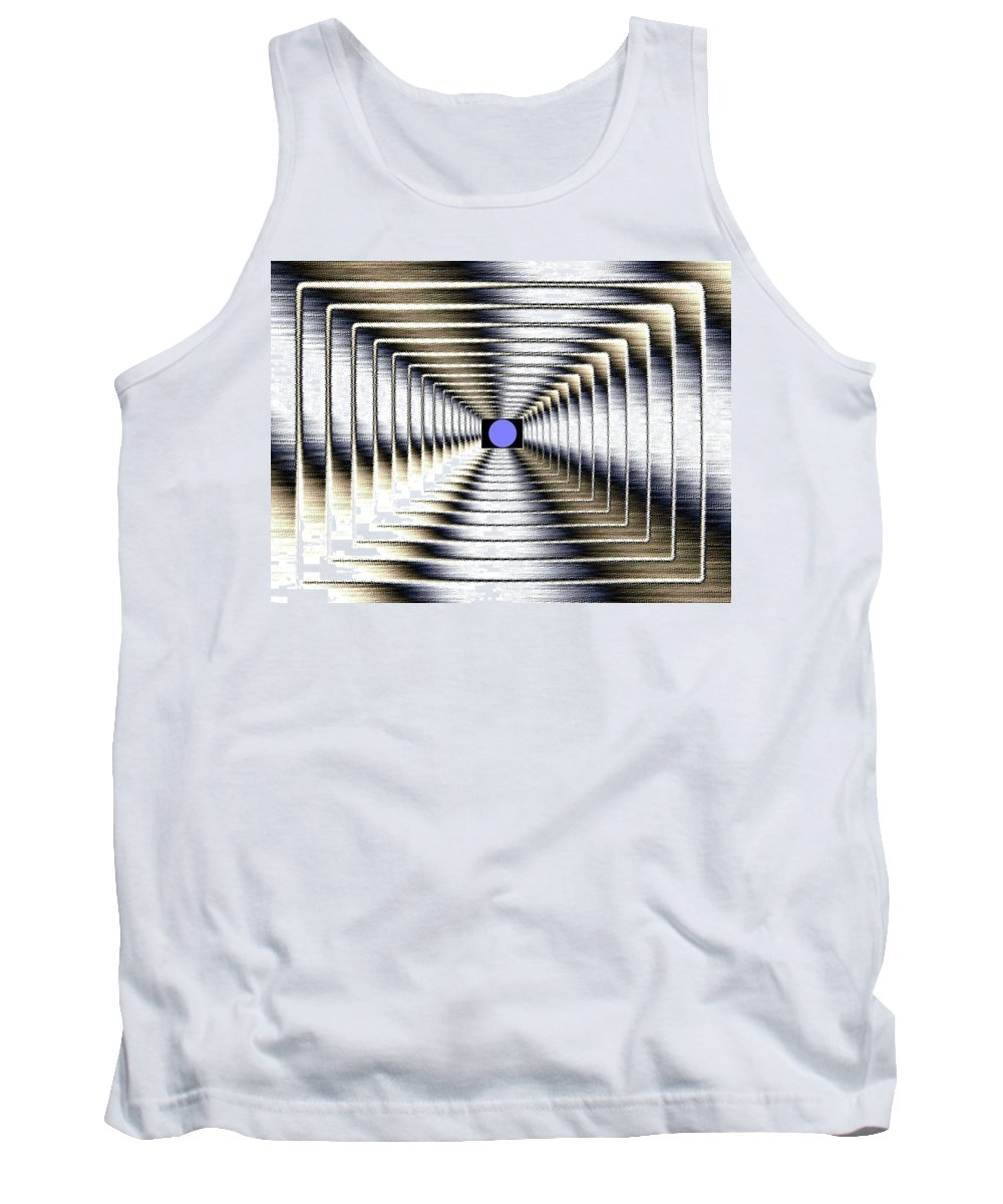 Abstract Tank Top featuring the digital art Luminous Energy 6 by Will Borden