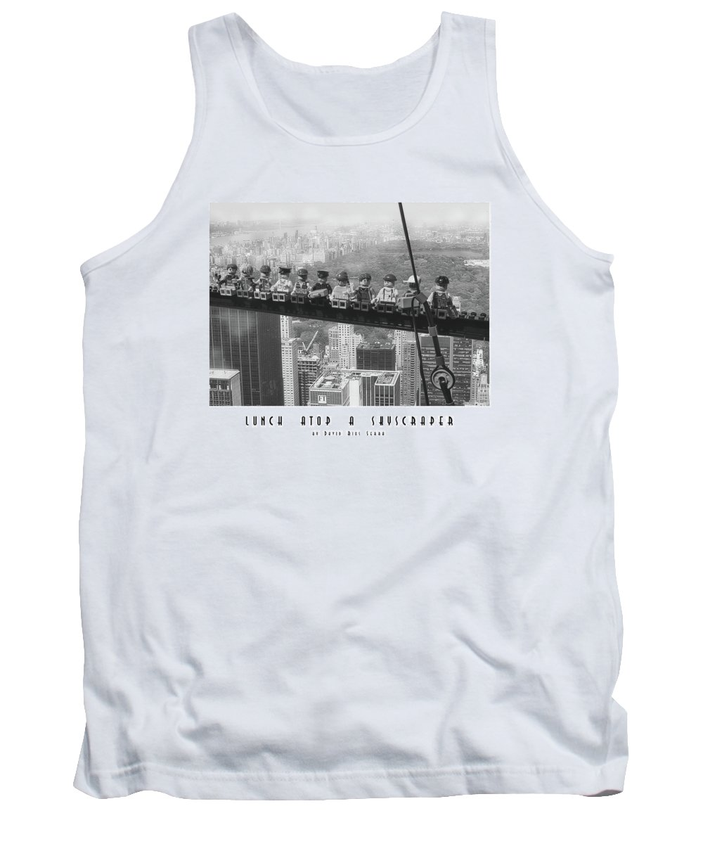 Lunch Tank Top featuring the photograph Lunch Atop A Skyscraper, By Lego by David Rius Serra
