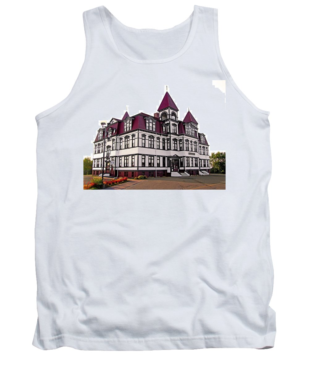 Lunenburg Academy Tank Top featuring the photograph Lunenburg Academy 2 by Mark Sellers