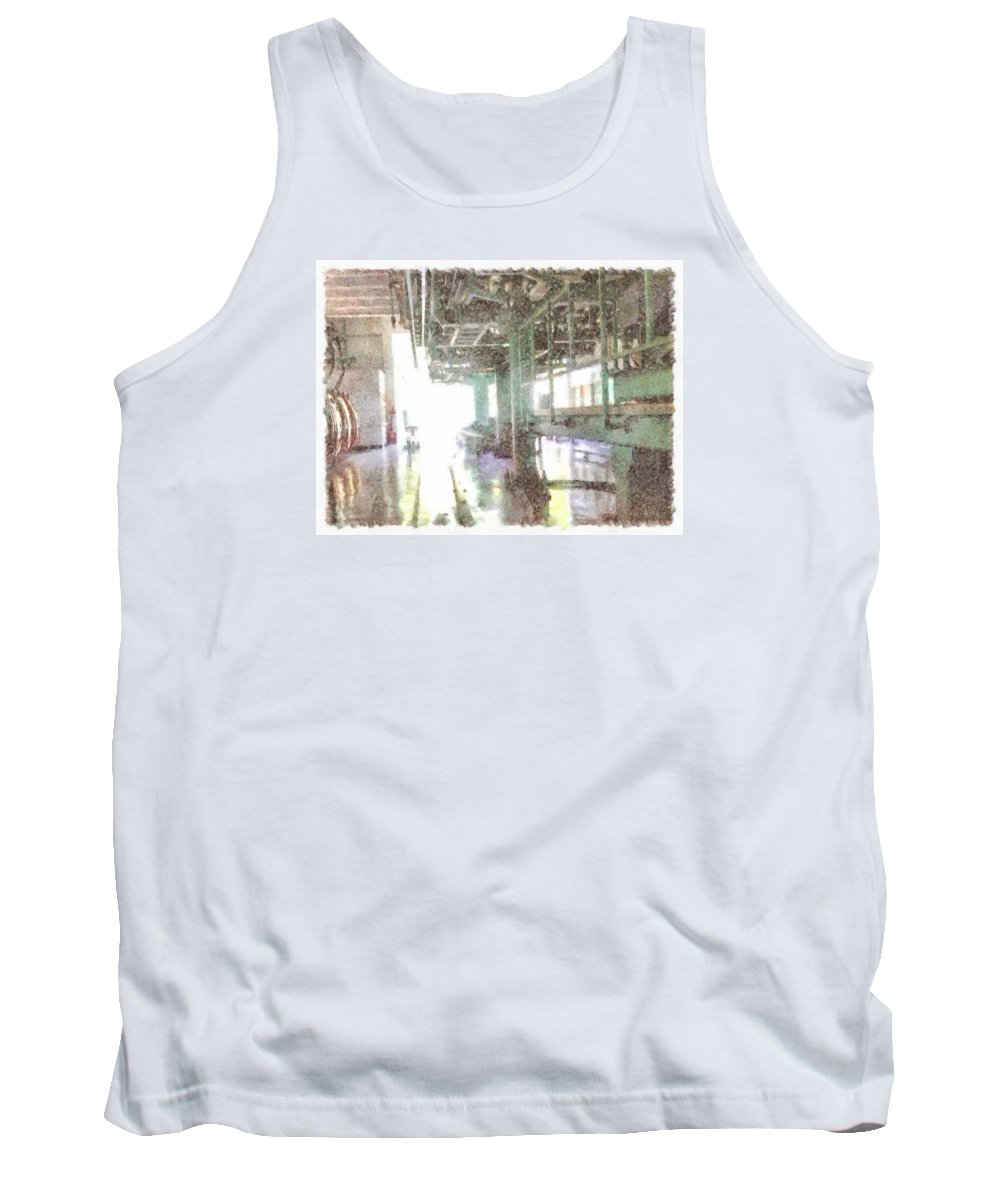 Factory Tank Top featuring the photograph Machinery In A Factory by Ashish Agarwal
