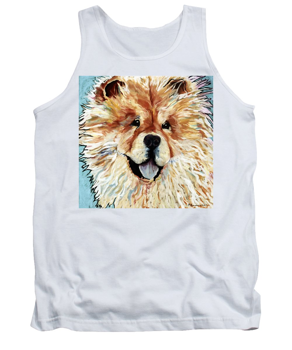 Chow Chow Tank Top featuring the pastel Madame Chu Cho by Pat Saunders-White
