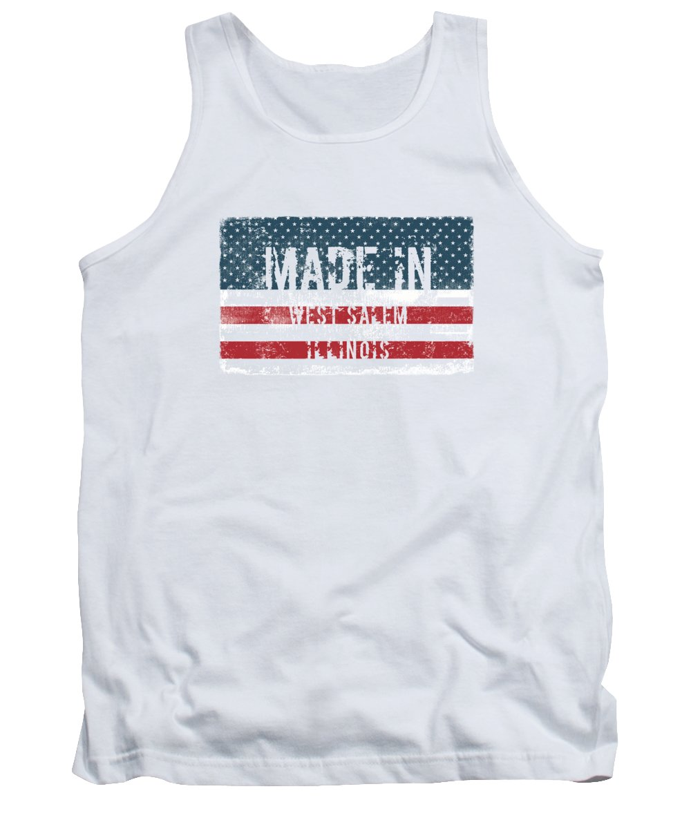 West Salem Tank Top featuring the digital art Made In West Salem, Illinois by Tinto Designs