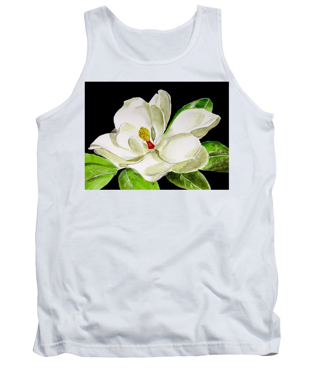 Magnolia Painting Tank Top featuring the painting Magnolia by Carol Blackhurst