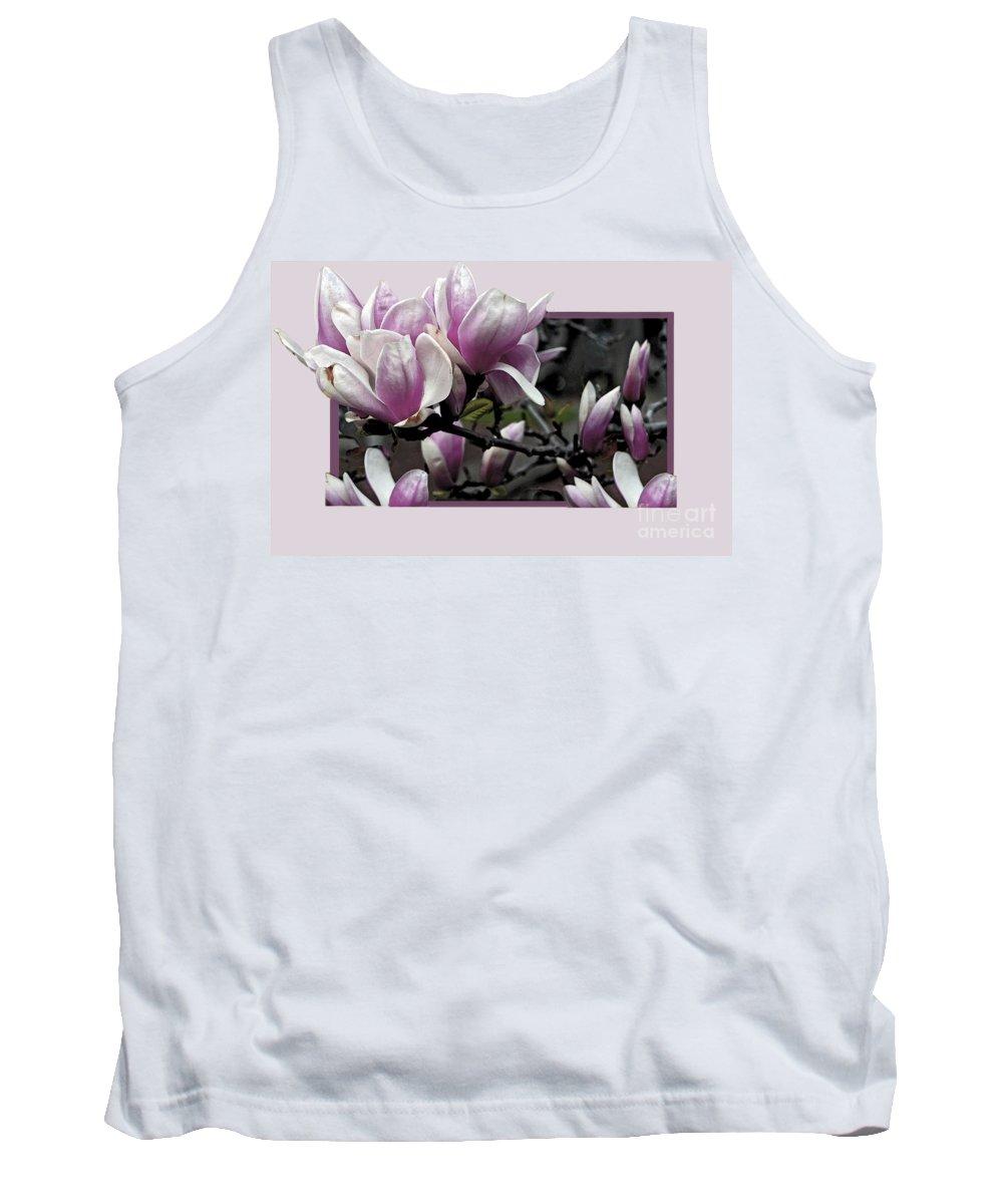Magnolia Tank Top featuring the photograph Magnolia Fantasy II by Madeline Ellis