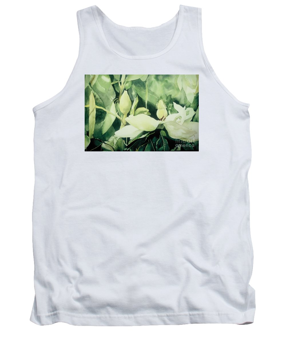 Magnolias Tank Top featuring the painting Magnolium Opus by Elizabeth Carr
