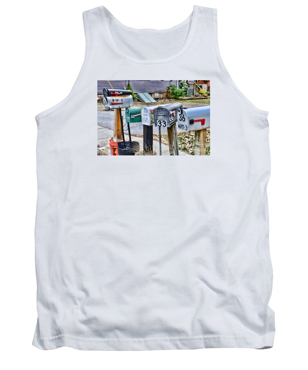 Paul Ward Tank Top featuring the photograph Mailboxes by Paul Ward