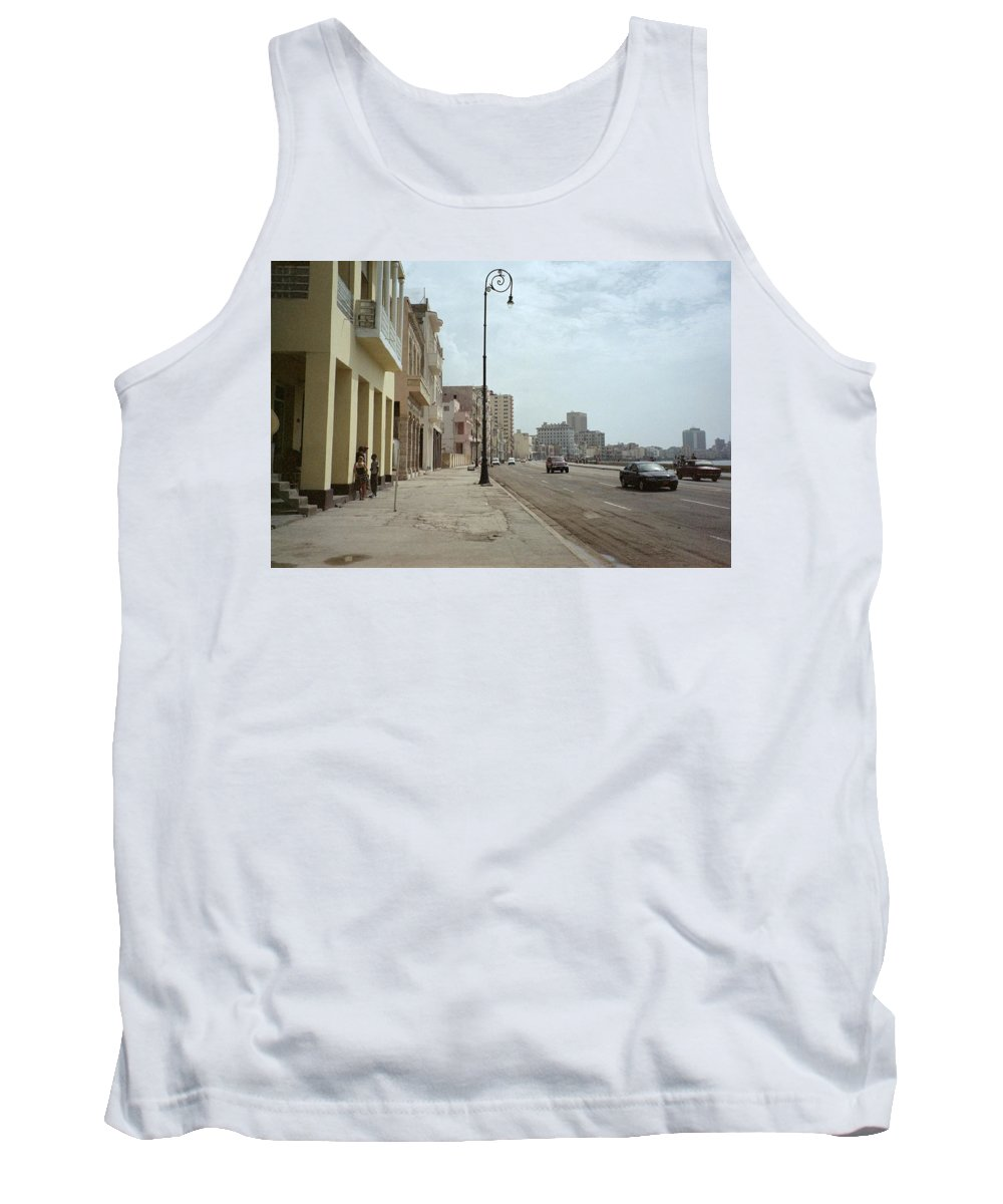 Quin Sweetman Tank Top featuring the photograph Malecon En Havana by Quin Sweetman