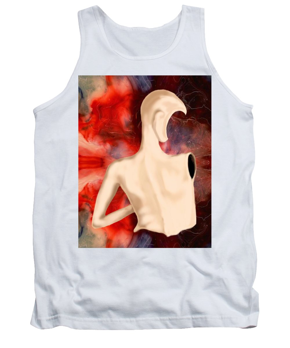 Woman Fashion Naked Surreal Abstract Tank Top featuring the digital art Manequin by Veronica Jackson