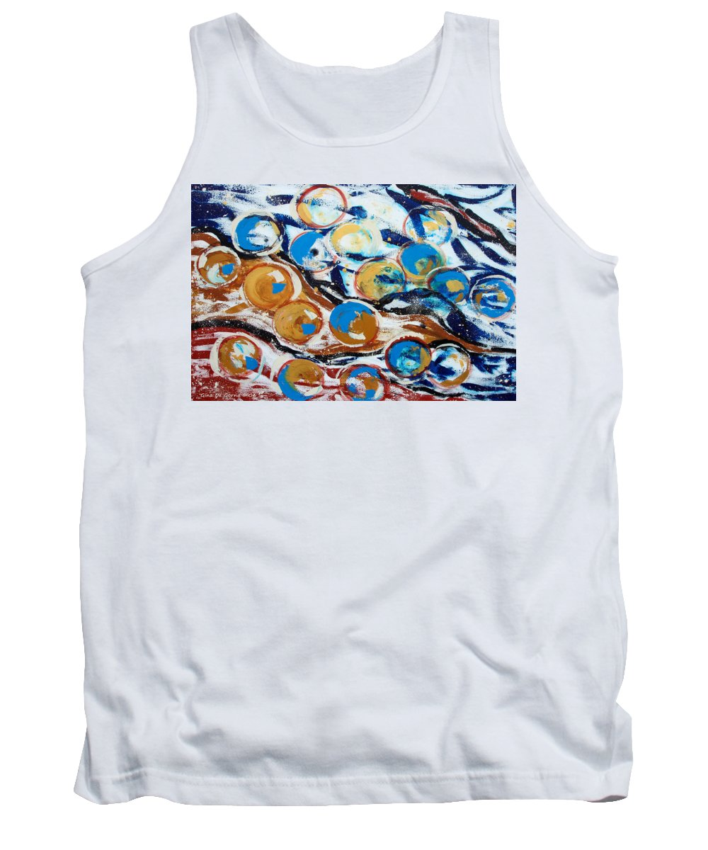 Marbles Tank Top featuring the painting Marbles of Life by Gina De Gorna