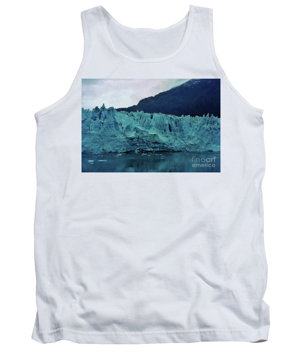 Glacier Tank Top featuring the photograph Margerie Glacier - Reflection by D Hackett