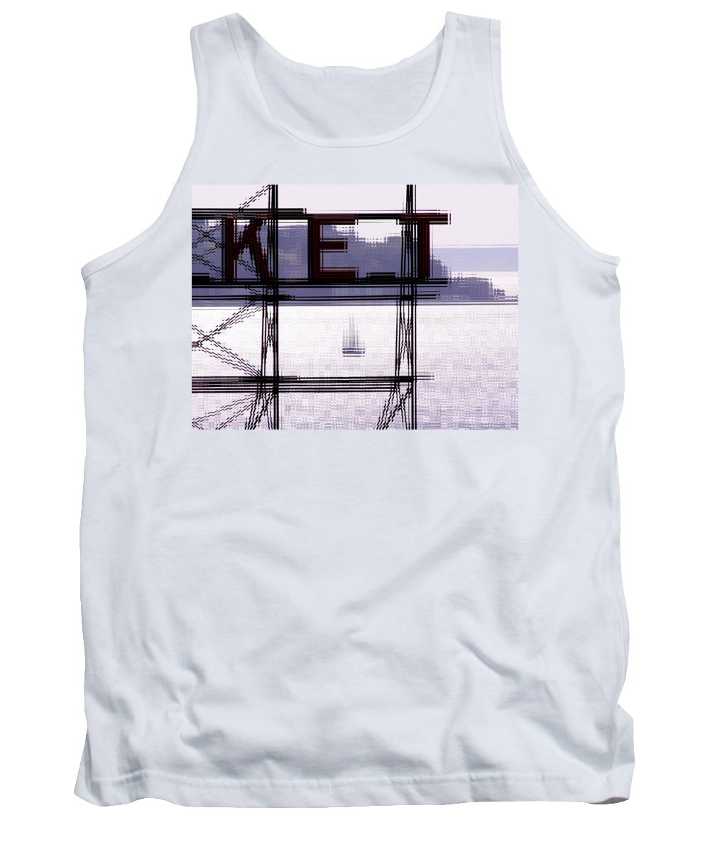 Seattle Tank Top featuring the digital art Market Sail by Tim Allen