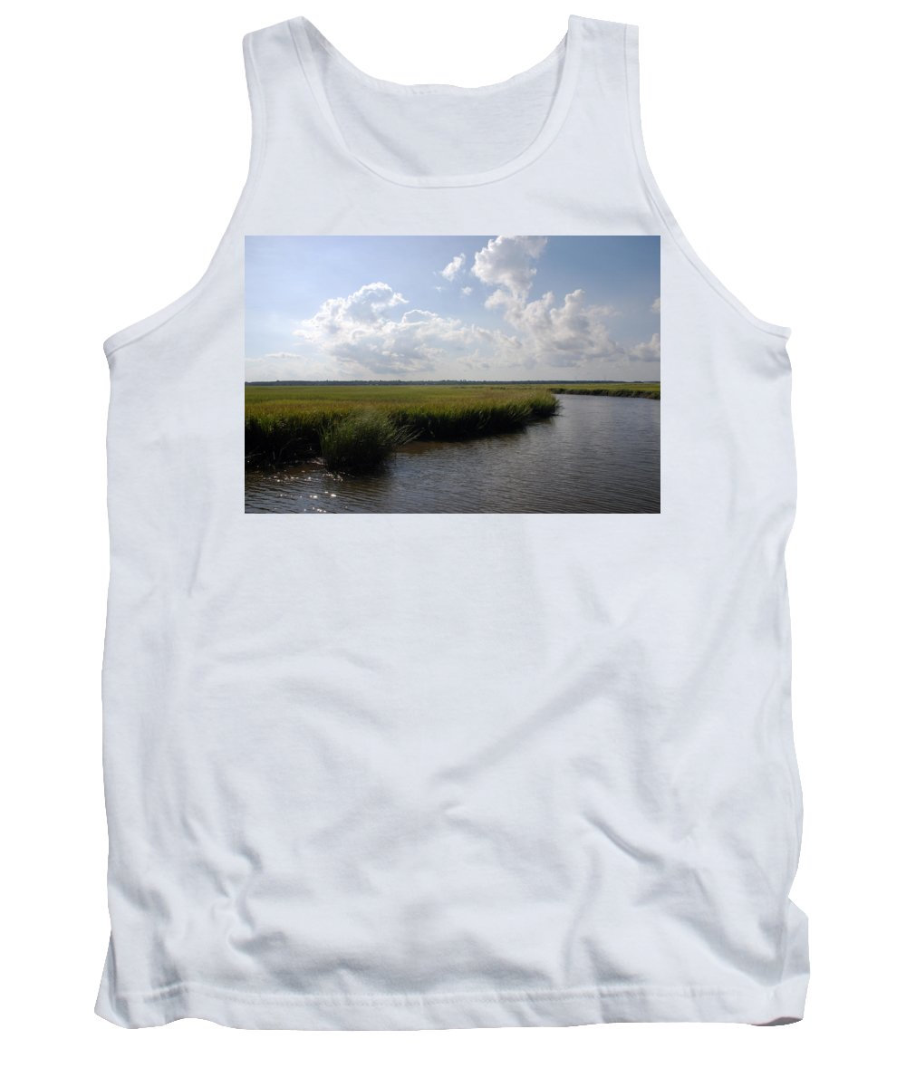 Photography Tank Top featuring the photograph Marsh Scene Charleston Sc II by Susanne Van Hulst