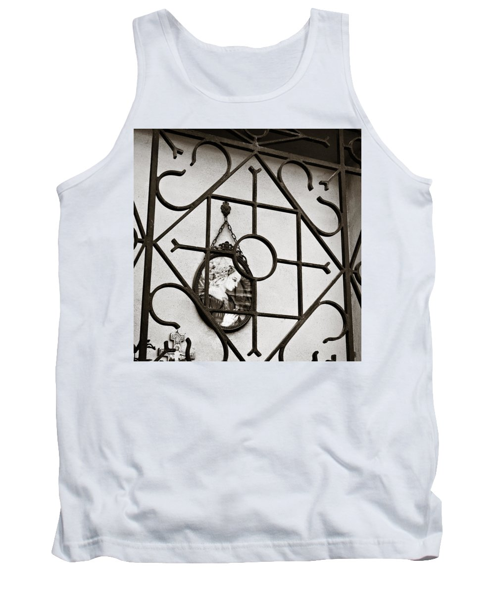 Mary Tank Top featuring the photograph Mary Enclosed 2 by Marilyn Hunt